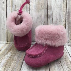 Pink Fur Baby Girl Ugg Boots